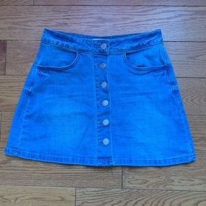 Button Up Jeans Skirt (Never Worn)